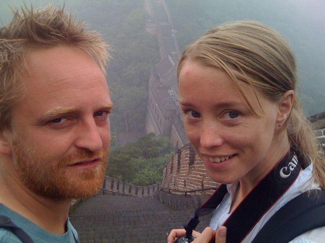 Alexander och Julia på muren